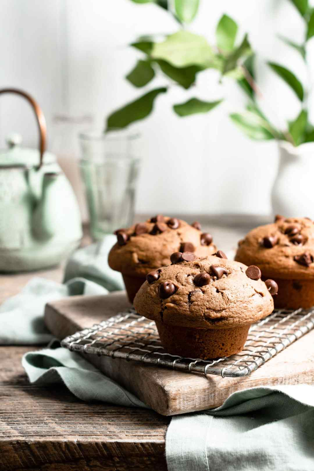 Bakery Style Chocolate Chip Muffin Recipe.