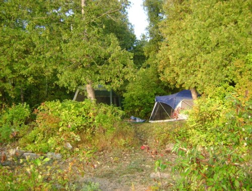 Choosing a campsite criterion layout