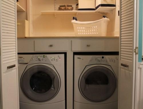 Laundry closet renovation finished