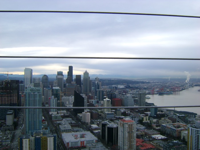 Seattle skyline from the top of the Space Needle