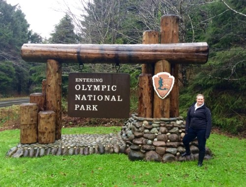 Mandatory photo at the Olympic National Park sign