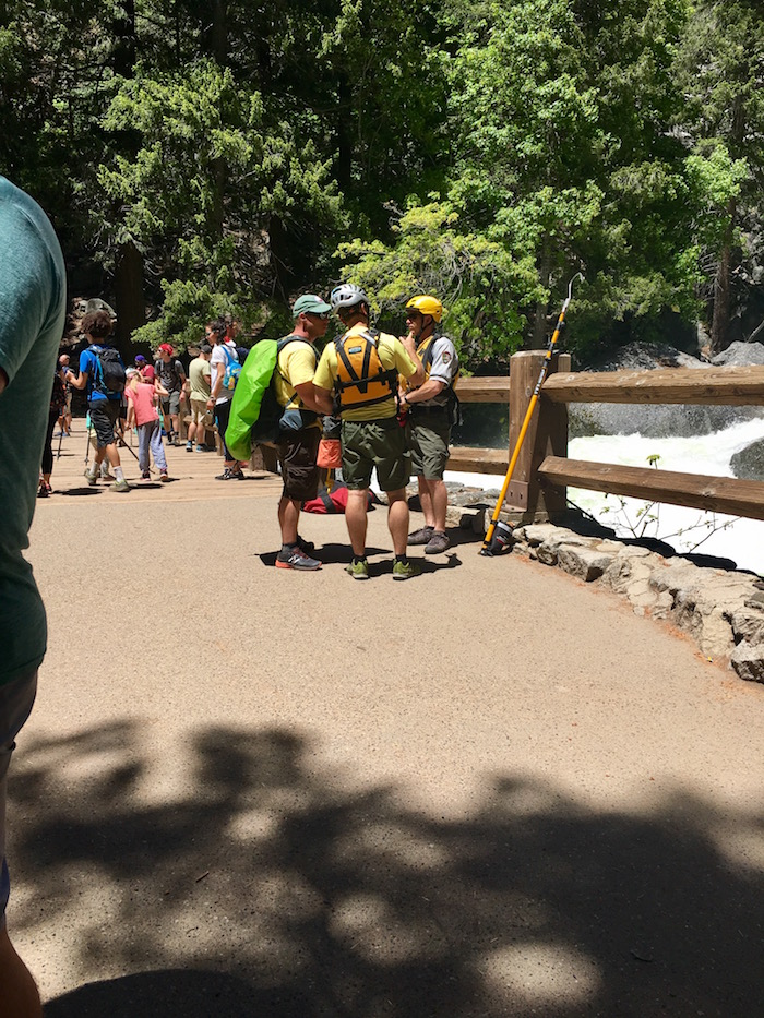 Yosemite Search and Rescue at the Vernal Fall Footbridge