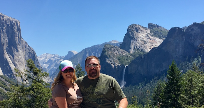 Laura and Jason at Tunnel View in Yosemite National Park