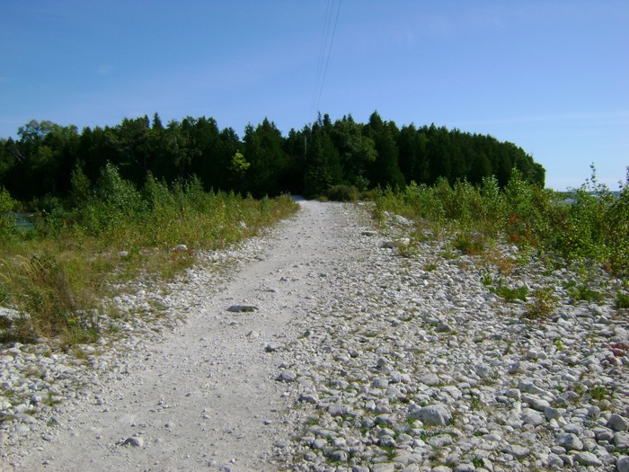 Road to the Cana Island Lighthouse in Door County, Wisconsin