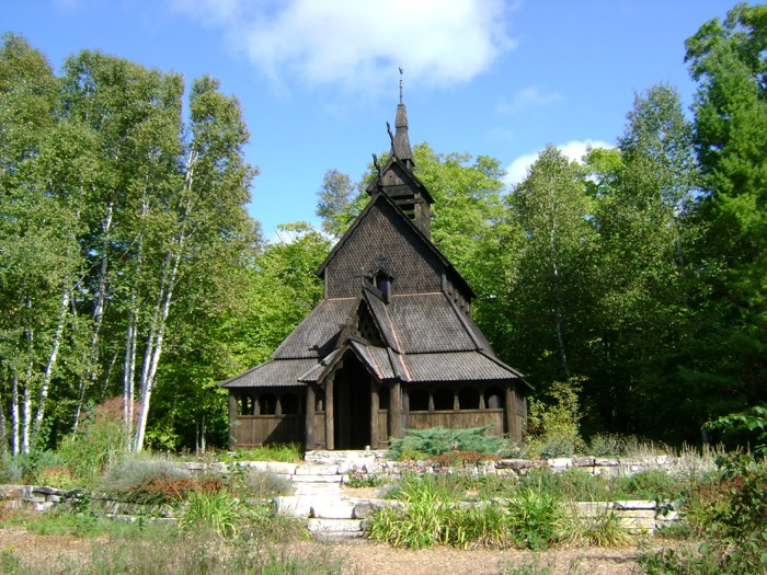 The stavkirke on Washington Island, Door County, Wisconsin