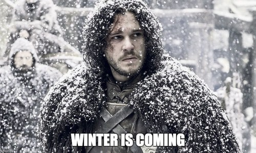 Image result for winter is coming jon snow
