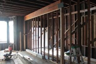 LVL beam installation