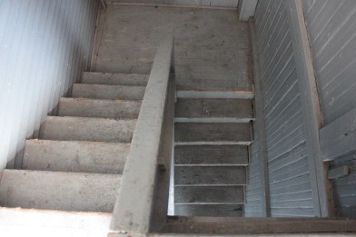 Existing porch stairs