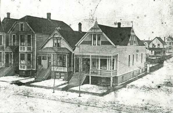 Our House, circa 1897 (Far left of image)