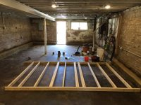 Basement Interior Wall Framing | Two Flat: Remade