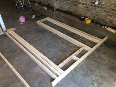 Framing a door opening