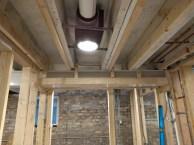 Bathroom ceiling leveling