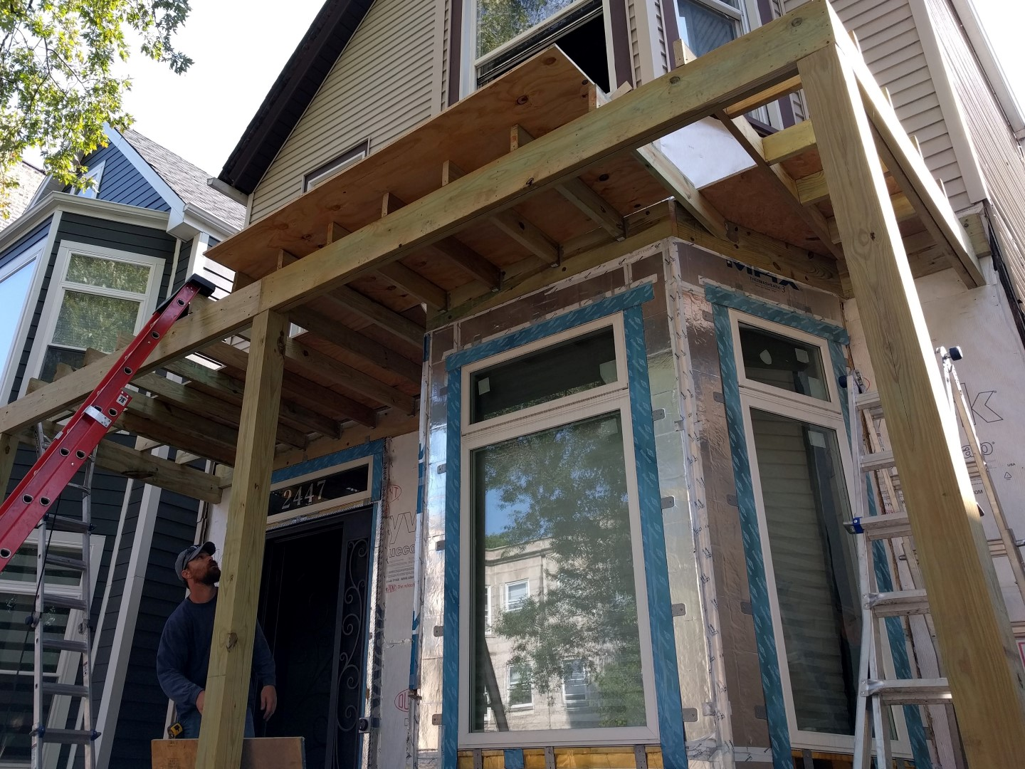 Front Gable Peak Two Flat Remade