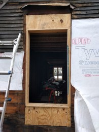 Sheathing and jamb extension