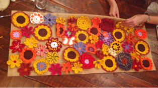 Castoff Project #1: Flower Collage for the Bachelor Pad