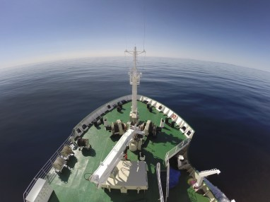 Out to Sea. Aboard the Akademik Ioffe. Baffin Bay, Canadian Arctic
