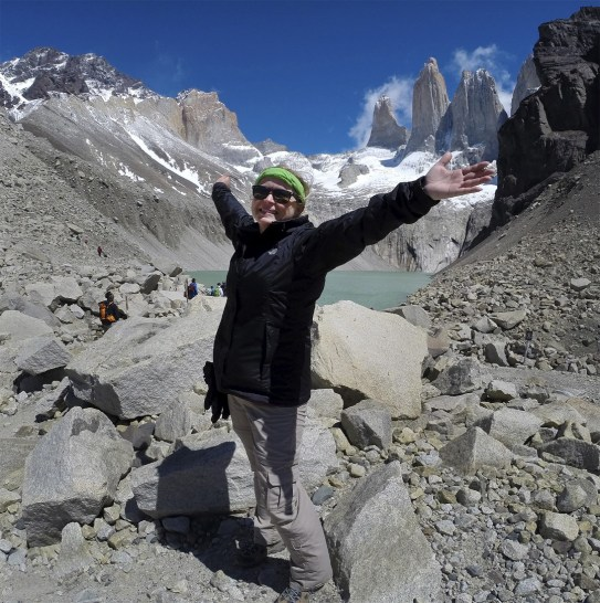 Celebrating! Torres del Paine National Park, Patagonia, Chile