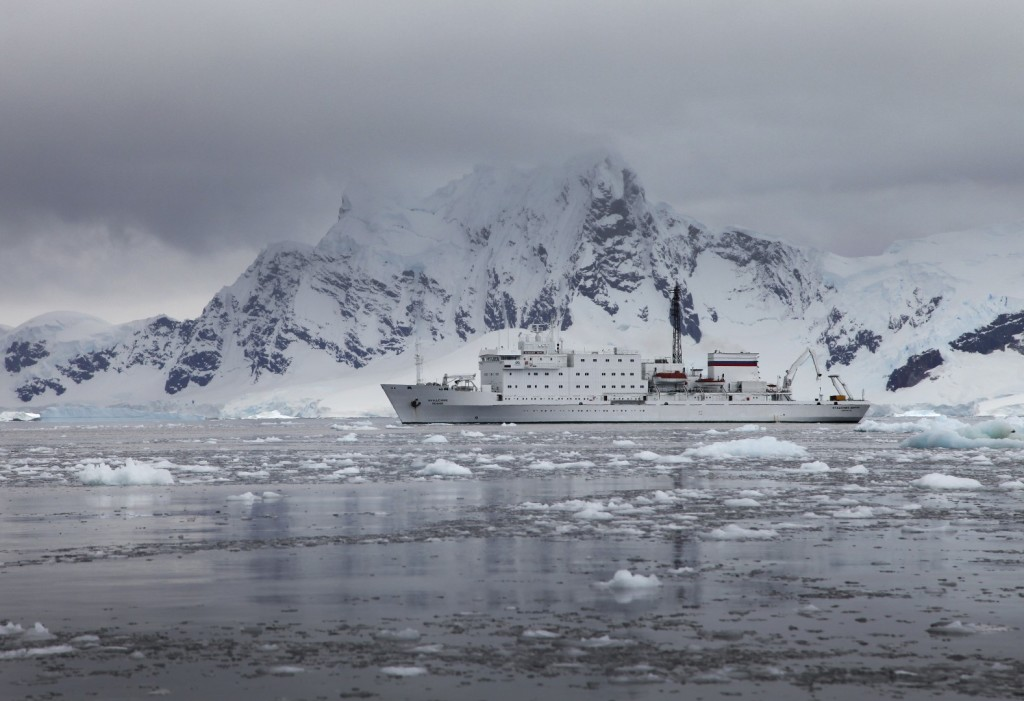 The stately Ioffe, looking very much at home in the polar environment.