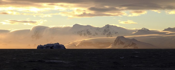 Our first Antarctic sunset. Truly a sight to behold.