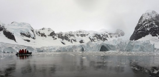 Occasionally we'd find these massive caves carved into the bottom of the glaciers, and approach with caution.