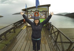 Fun times! At Puerto Guarini, Tierra del Fuego National Park.