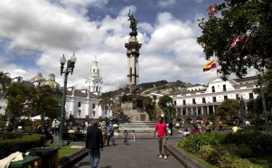 Quito's charming Plaza de la Independencia.
