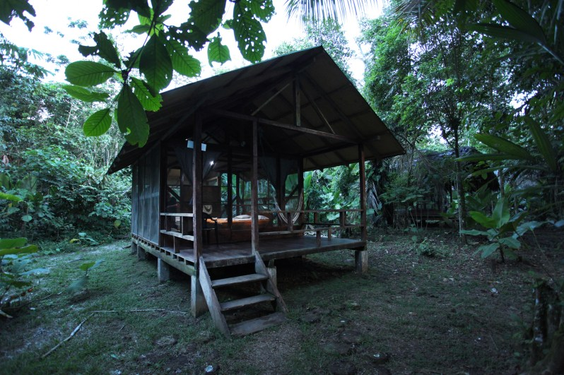 Our home for this adventure! At the Huaorani Ecolodge.