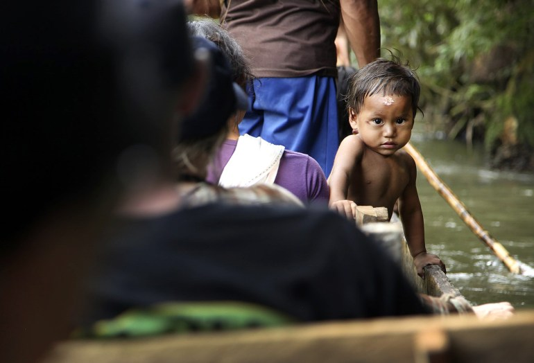 A young Huaorani boy name Julio gives us a curious stare.