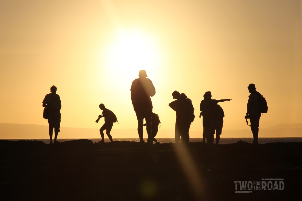 Two for the Road Photo of the Day: Shadows in the Galapagos Sunset