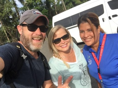 With our guide Michele at the Panama Canal.