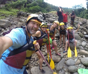 About to raft the Pacuare River! (Costa Rica)