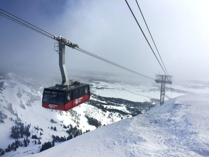 It's a spectacular ride on the Jackson Hole Aerial Tram up to the top!
