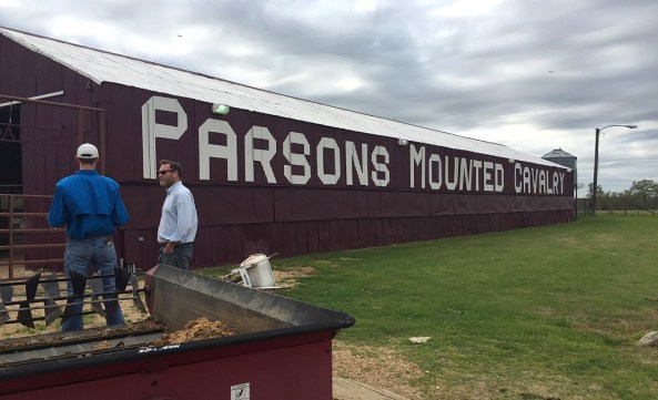 Meeting up with the famed Parsons Mounted Cavalry!