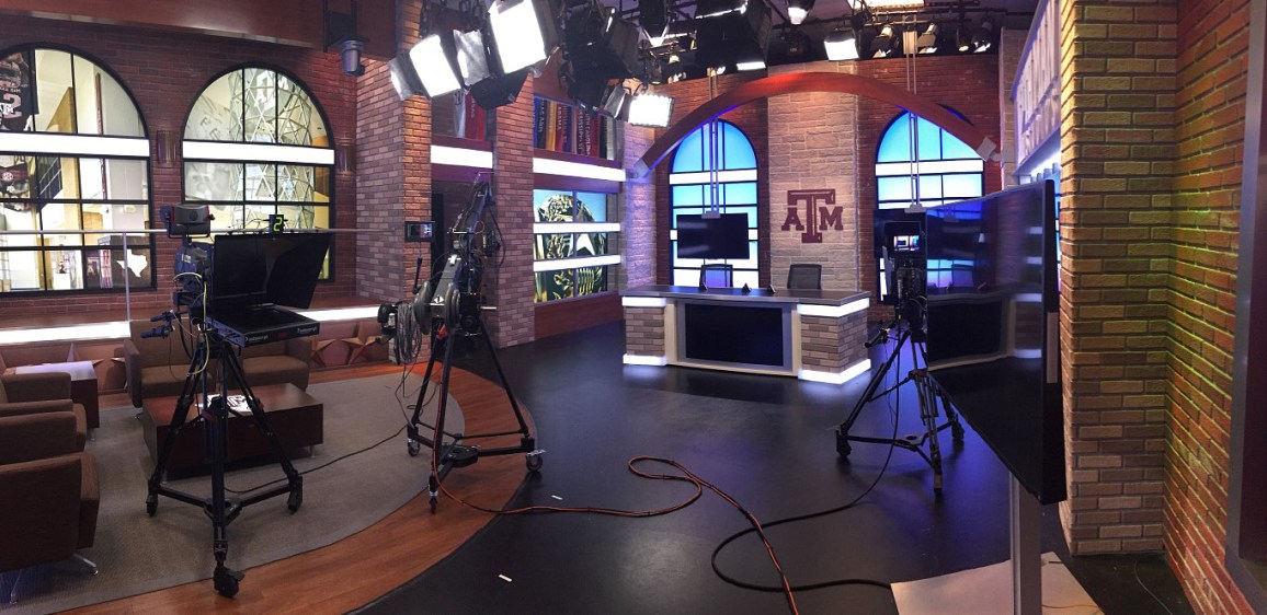 The SEC/ESPN/Aggie studios in Kyle Field