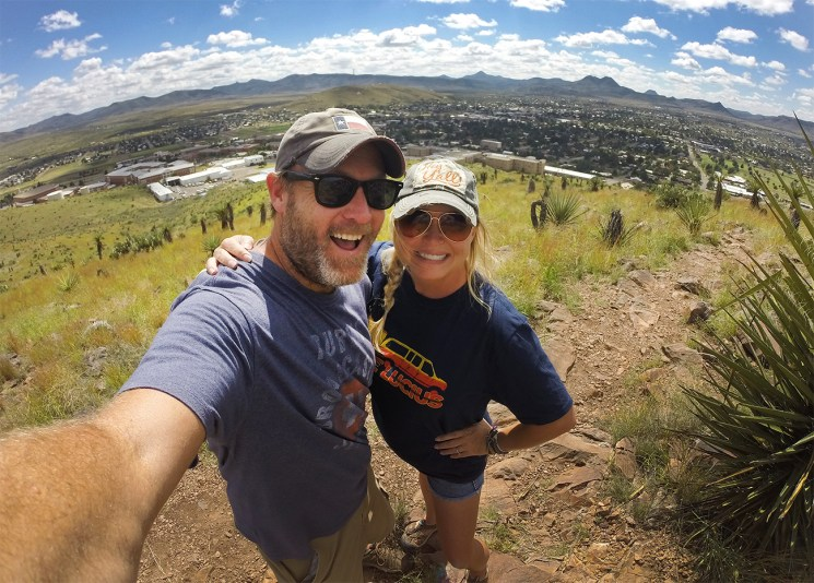 Cheesing it up above the town of Alpine!