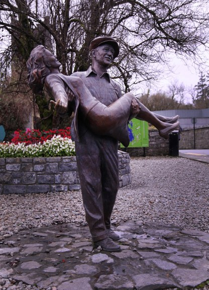 The Duke and Maureen are immortalized on the streets of Cong. Actually saw the movie for the first time while we were here. Loved it!