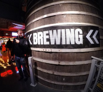 Brewing? Yeah. We'll go that way.