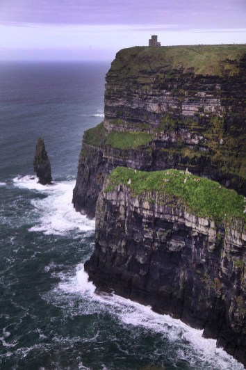 The walls of the cliffs rise some 700 feet up from the crashing waves of the Atlantic. An awesome sight!