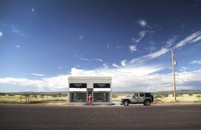 The iconic Prada Marfa store. Which is actually about half an hour from Marfa in the middle of nowhere. Crazy cool!