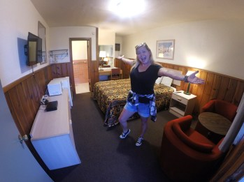 Our room at the Value Inn in Van Horn! $45 bucks a night! Giddyup!