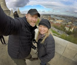 A selfie atop a place called Castle Hill, where you can get amazing views of Budapest, the Danube, and the surrounding area. Very cool!