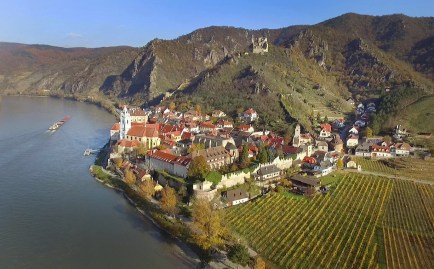 As we moved up the Danube, we landed in this magical place. The city of Durnstein, Austria! Isn't this incredible?