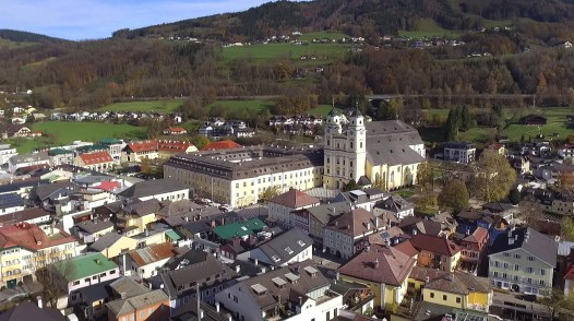 Visited beautiful St. Michael's Church in the carming Austrian town of Mondsee! Look familiar? It should! It was home to the big wedding scene in the movie Sound of Music!