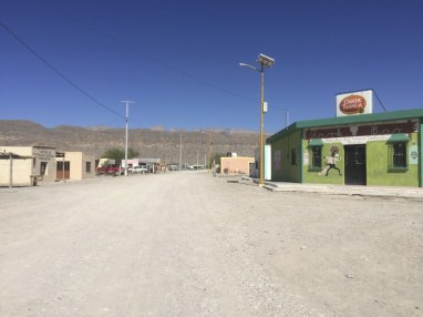 The quiet streets of Boquillas.