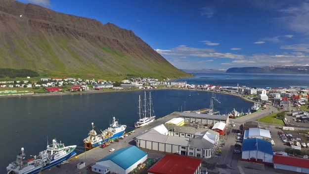 Our next stop? The lovely little city of Isafjordur in far northwestern Iceland. Beautiful day too!