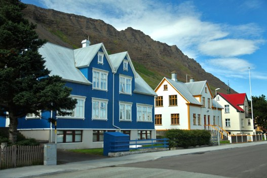 The colorful homes of Isafjordur.