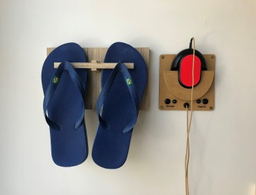 """Part of an exhibit on display at Hversdagssafn - museum of everyday life called """"Take a walk in our shoes,"""" featuring stories on audio (in both English and Icelandic) from local people. Really fascinating stuff. Just love this place."""