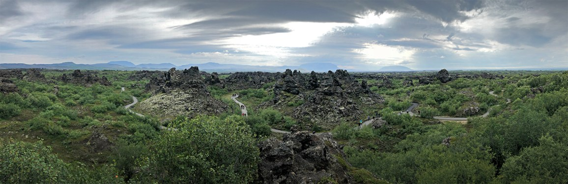 The storied lava fields of Dimmuborgir in northern Iceland. Crazy! Scenes from Game of Thrones were filmed here evidently. They actually film/filmed lots of GoT in Icleand we hear!