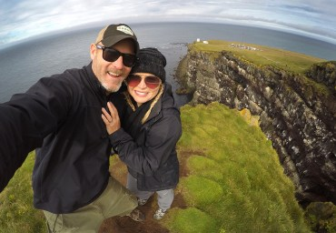 At the end of Iceland! Atop the tall green cliffs of Latrabjarg! Where we saw...