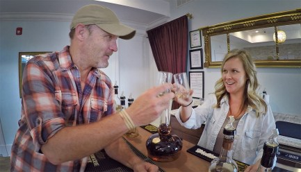 Getting a taste of that fine Willett Bourbon with our guide Brittany. Cheers!